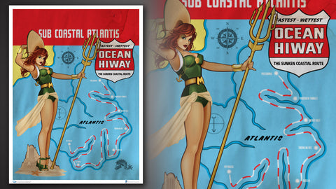 Photo of DC Bombshells Mera Art Print