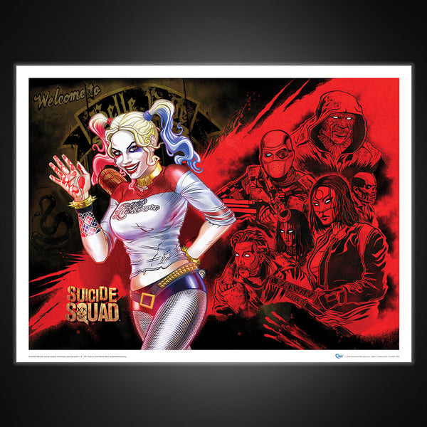Suicide Squad Harley's Heroes Art Print
