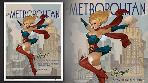 Photo of DC Bombshells Supergirl Art Print