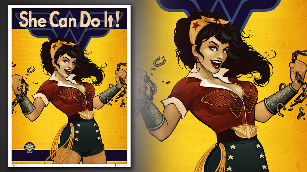 DC Bombshells Wonder Woman Art Print