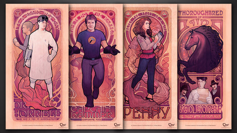 Photo of Dr. Horrible Art Nouveau Poster Set