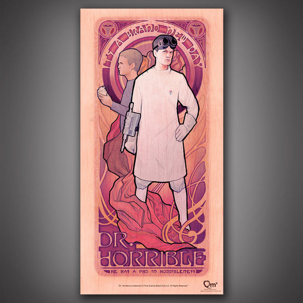 Dr. Horrible Art Nouveau Poster Set