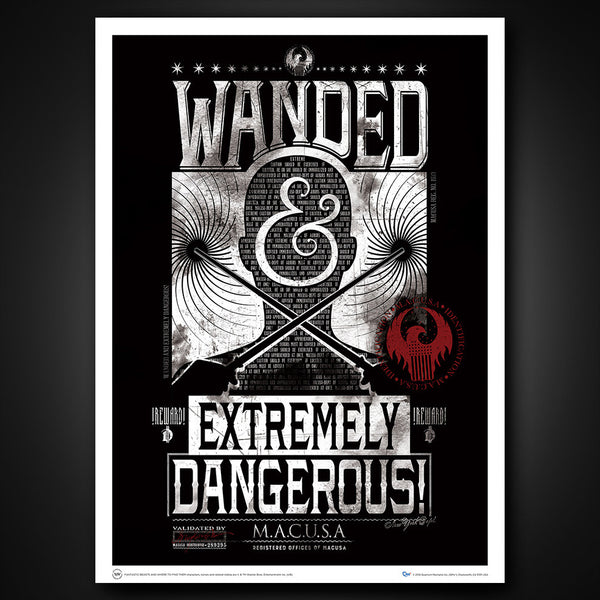 Fantastic Beasts: Wanded & Extremely Dangerous Art Print