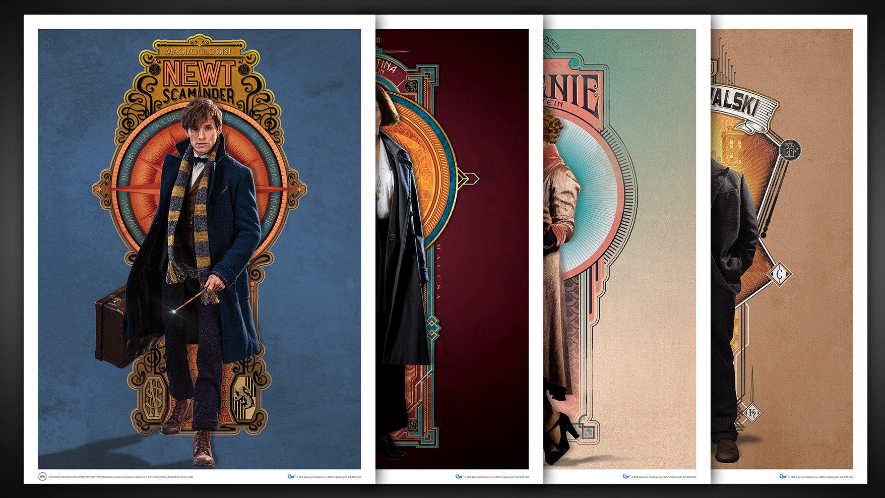 fantastic beasts and where to find them art print set 3 quantum