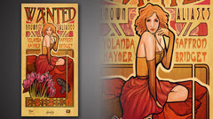 Thumbnail of Firefly Les Femmes Saffron Poster