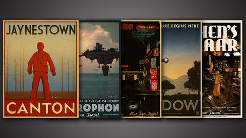 Photo of Blue Sun Travel Poster Set - Series 2