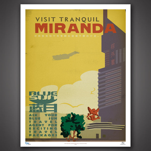 Blue Sun Travel Poster Set - Series 1