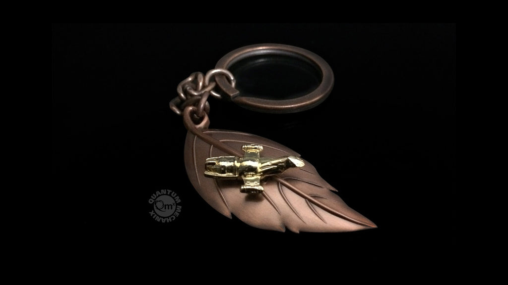 Gold Leaf on the Wind Key Chain-Pendant