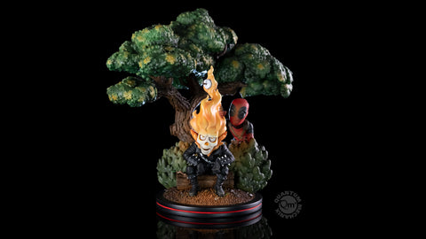 Photo of Deadpool x Ghost Rider Q-Master Diorama