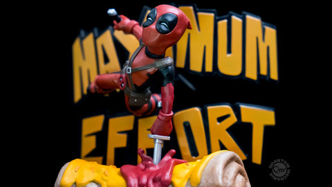 Photo of Deadpool Maximum Effort Q-Fig Max Diorama