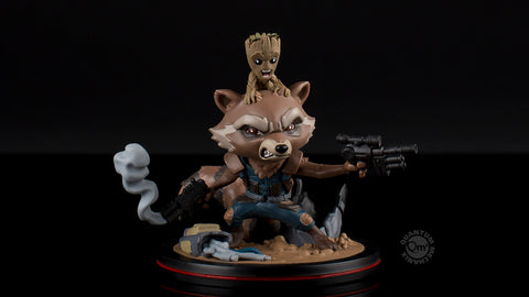 Photo of Rocket & Groot Q-Fig Diorama