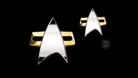 Photo of Star Trek: Voyager Communicator Badge and Pin Set