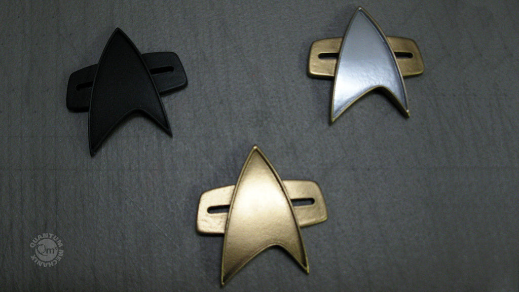 Star Trek: Voyager badge prototypes