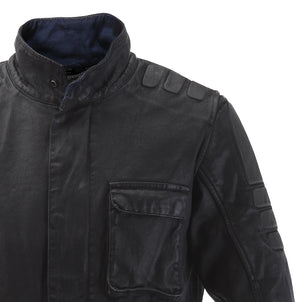 PMJ District jkt black cotton Outerwear jacket