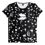 DISTINCTION LDN PAINT SPLATTER TEE - BLACK & WHITE