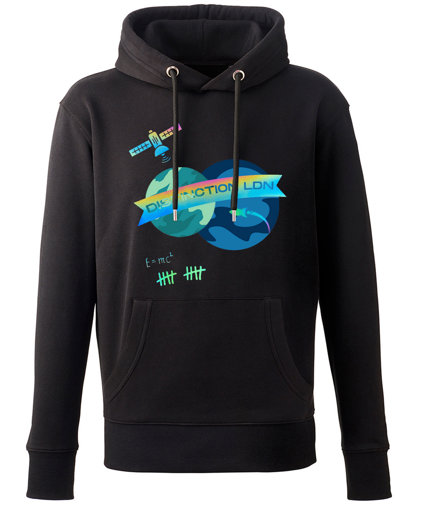 DISTINCTION LDN REFLECTIVE HOLOGRAPHIC HOODIE