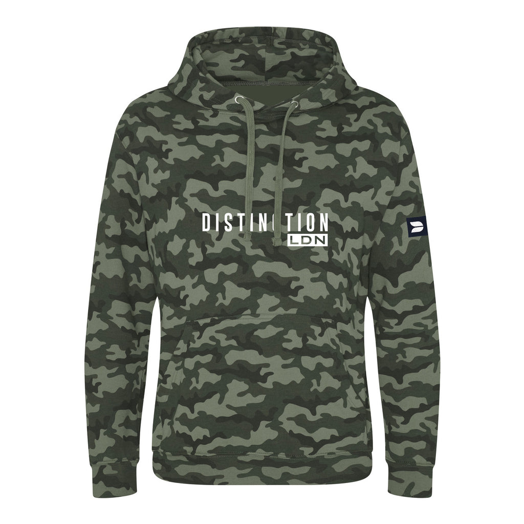 DISTINCTION LDN BADGED CAMO HOODIE
