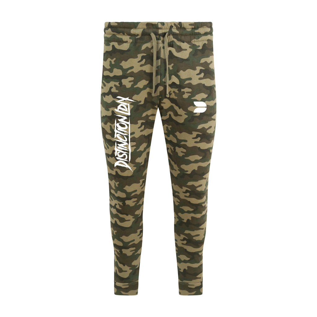 DISTINCTION LDN GRAFFITI CAMO JOGGERS