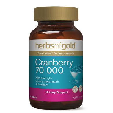 Herbs of Gold Cranberry 70000 50 Tablets