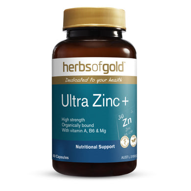 Herbs of Gold Ultra Zinc+ 60 Capsules