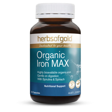 Herbs of Gold Organic Iron MAX 30 Capsules