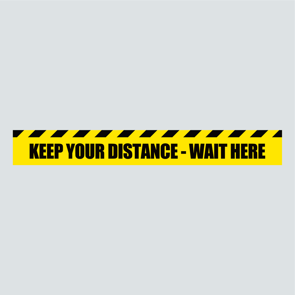 Floor Vinyl - Keep Your Distance