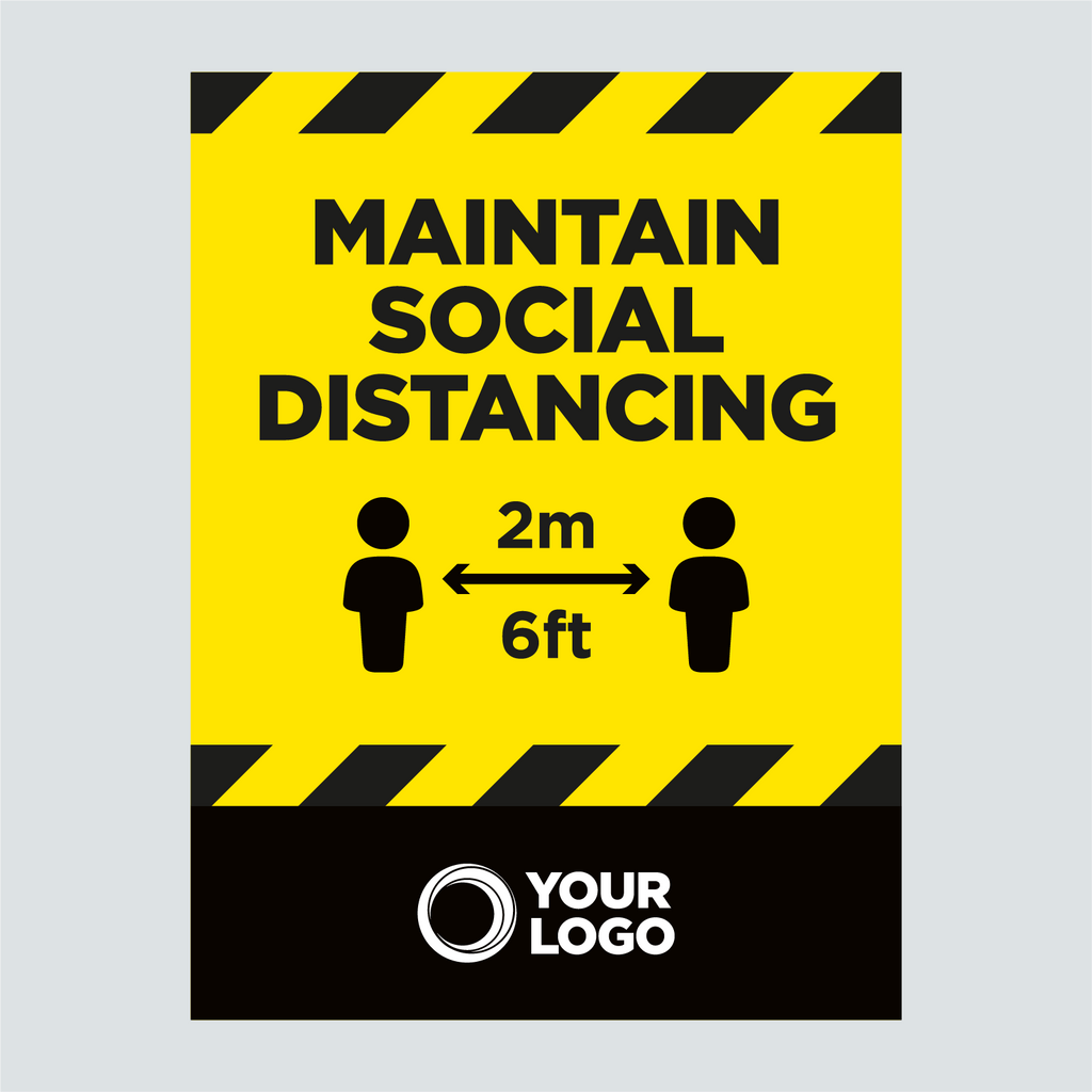 General Signage - Maintain Social Distancting