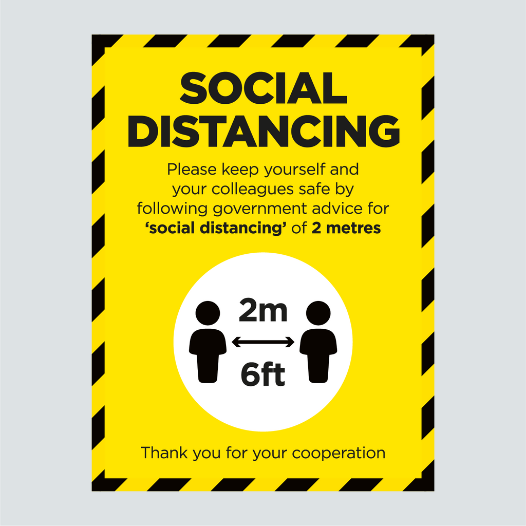 General Signage - Social Distancing