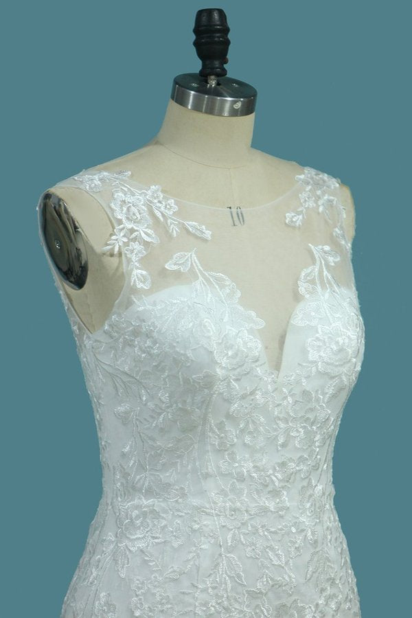 Scoop Wedding Dresses Mermaid With P5ST9Q2F