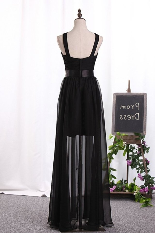 Bridesmaid Dresses A Line Scoop Chiffon With Ruffles P57HX2K5