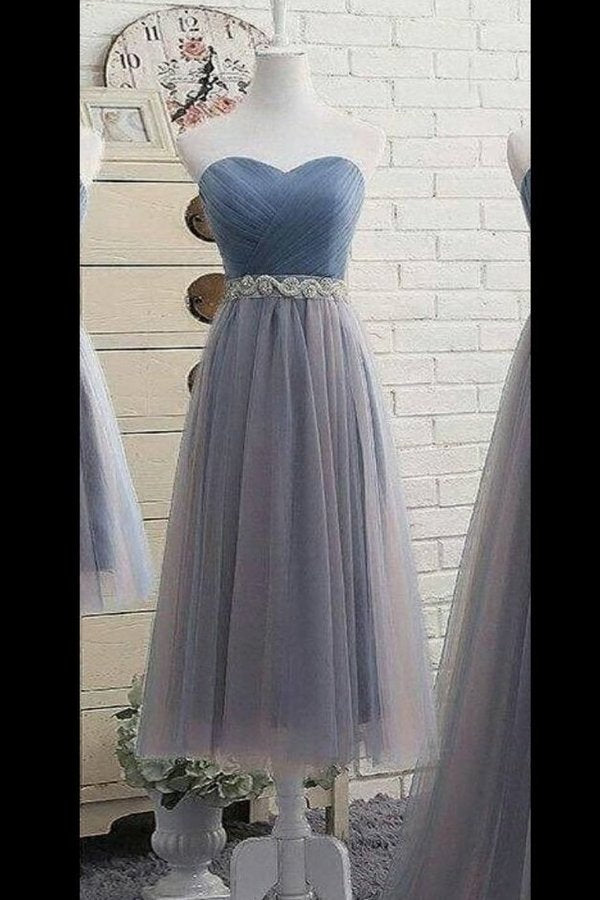 Simple Prom Dress A-Line Sweetheart With Sash PQJMLQ4Z