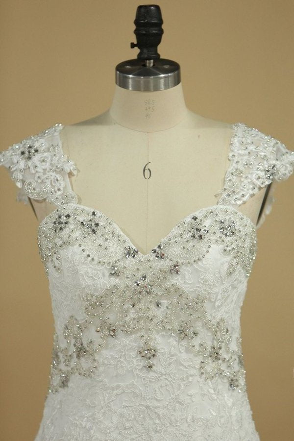 Straps A Line Wedding Dresses With PH6N4S9X