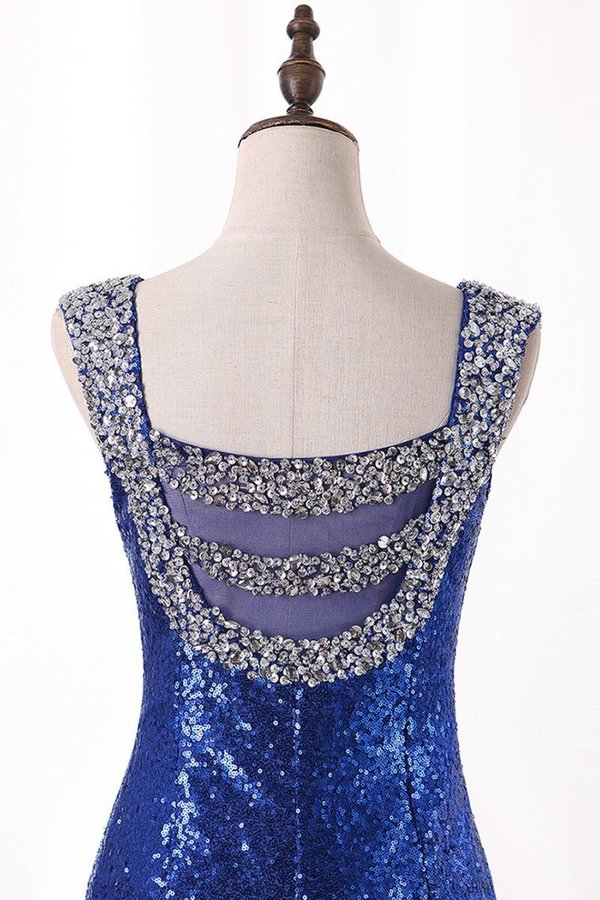 Bling Bling Evening Dresses Mermaid V Neck Sequins Lace With Rhinestones PQ52Z6EE
