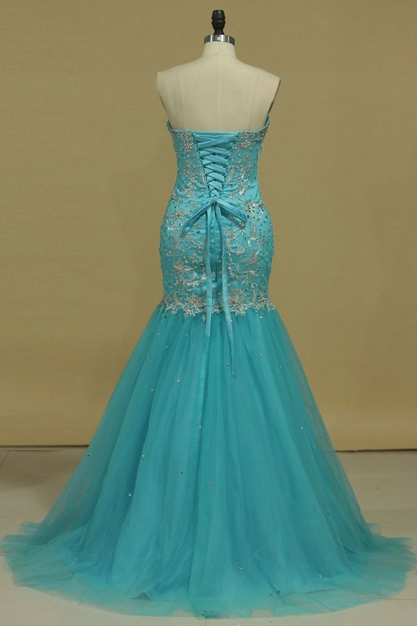 Sweetheart Prom Dresses Mermaid/Trumpet With Applique And PDTBHCK9