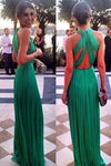Sexy Open Back Scoop Chiffon With Ruffles A P4L4MBLR
