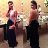 Lace Charming Sexy Real Made Prom Dresses Long Evening Dresses Prom Dresses On Sale