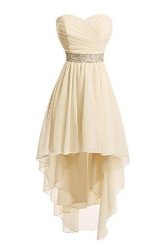 Women High Low Lace Up Prom Party Homecoming Dresses