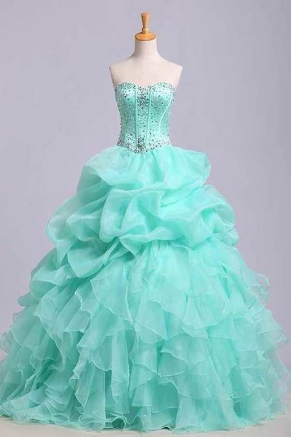 Ball Gown Sweetheart Jewel Beaded Bodice Bubble And Ruffled PZBXX8RG