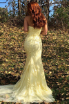 Mermaid Strapless Appliques Prom Dresses With Slit Evening STIPXH4MGL2