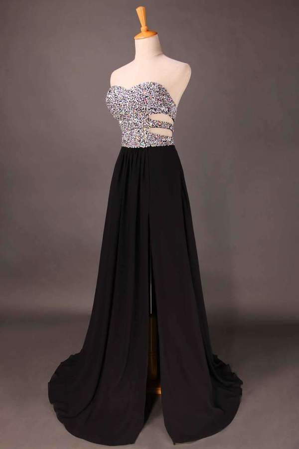 Sweetheart Prom Dresses Beaded Bodice A PSLCNZLN