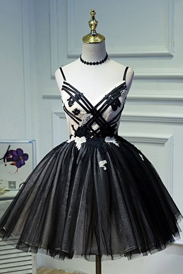 Tulle Homecoming Dresses Spaghetti Straps With PGJCXFME