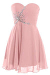 Short Strapless Sweetheart Prom Dress Crystal