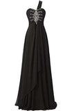 Long Chiffon A-line Beading Bridesmaid Dress Prom Gown