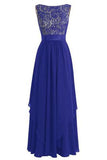Long Chiffon Bridesmaid Dress V-back Evening Gown Prom Party Dress