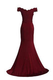 Prom Dresses Spandex Off The Shoulder Long Evening Dress