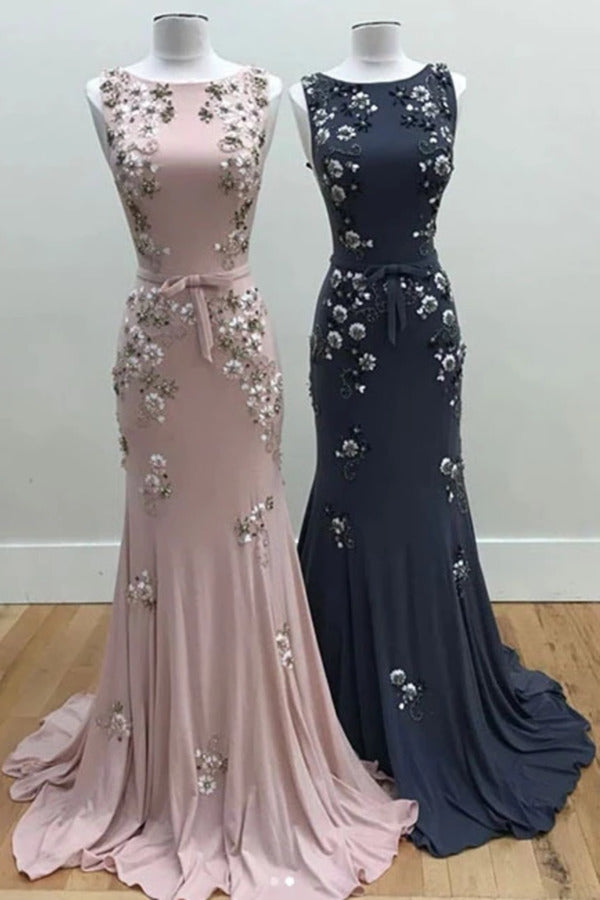 Mermaid Long Evening Dress With Beads Gorgeous Prom Dress PMMLNBP8