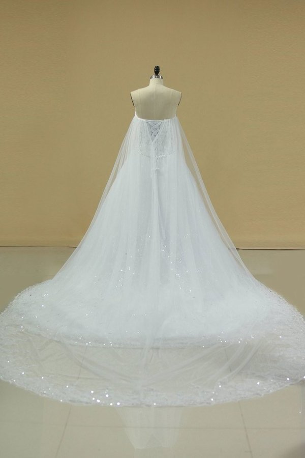 Gorgeous Sweetheart Wedding Dresses A Line Tulle With PZEBYSQF