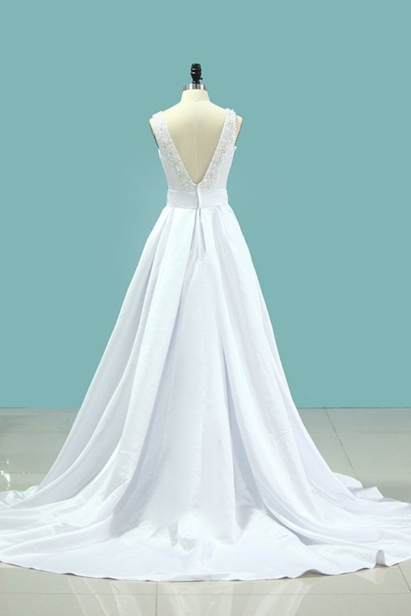 2020 Scoop Open Back Wedding Dresses P3GMD7ZE