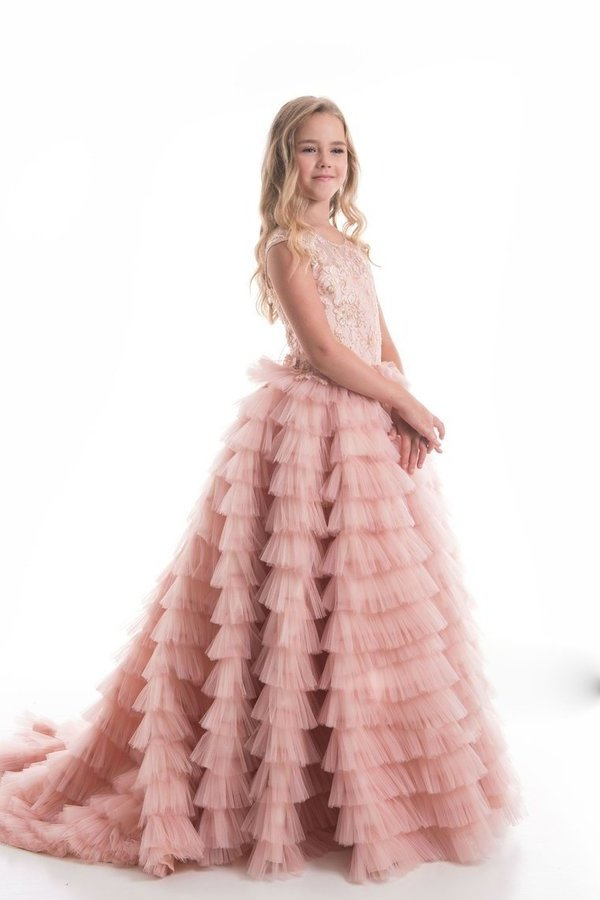 2020 Tulle Scoop With Beads Flower Girl Dresses A Line PP3QEKG7