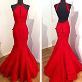 Mermaid Red Prom Dress Long Prom Dresses Charming Prom Dresses prom dresses